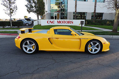 2005 Porsche Carrera GT CGT in Rare Fayence Yellow Highly Collectible for sale