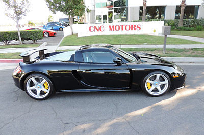 2005 Porsche Carrera GT Pure Black New Clutch V10 Ascot Interior for sale