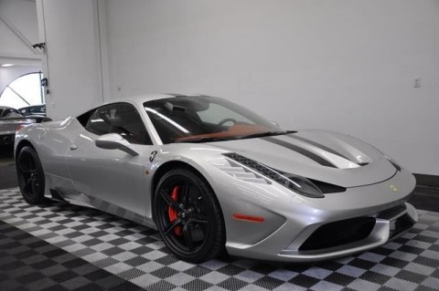 2014 Ferrari 458 Speciale Argento Nurburgring Silver Black/red Leather for sale