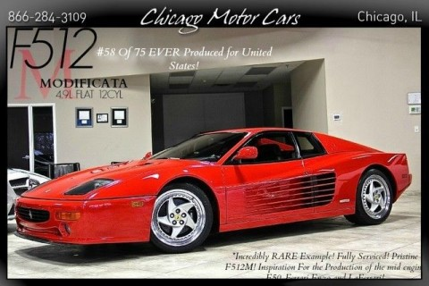 1995 Ferrari F512 M Testatrossa #58 of 75 EVER Produced Incredible 5Spd SERVICED for sale