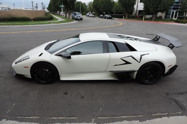 2010 Lamborghini Murcelago SV Bianco Canopus Only 4,210 Miles / Rare Flat White
