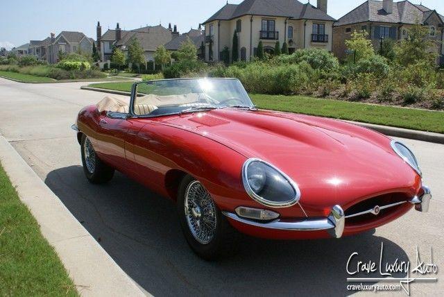 1965 Jaguar E Type Xke Roadster Carmen Red Tan Interior Fully Restored