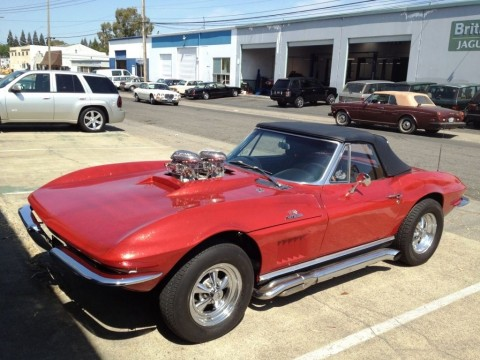 1966 Corvette Convertible Old School hot rod for sale